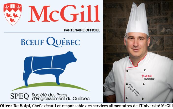 Oliver De Volpi, Chef exécutif et responsable des services alimentaires de l'Université McGill