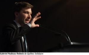 Gabriel Nadeau-Dubois de Québec Solidaire