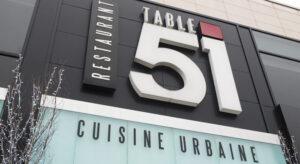 Restaurant Table 51