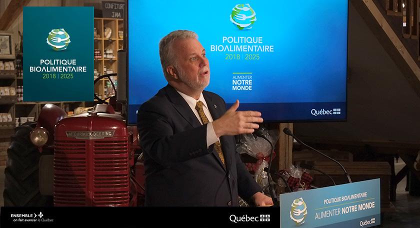 Politique bioalimentaire, Philippe Couillard, Agro Quebec
