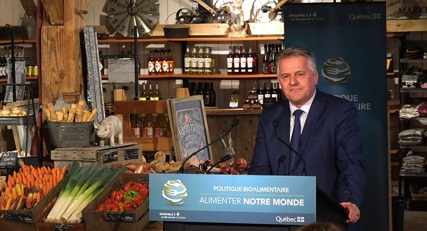 Politique bioalimentaire, Laurent Lessard, Agro Quebec