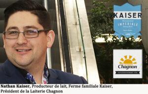 Nathan Kaiser, Producteur de lait, Ferme familiale Kaiser, Président de la Laiterie Chagnon