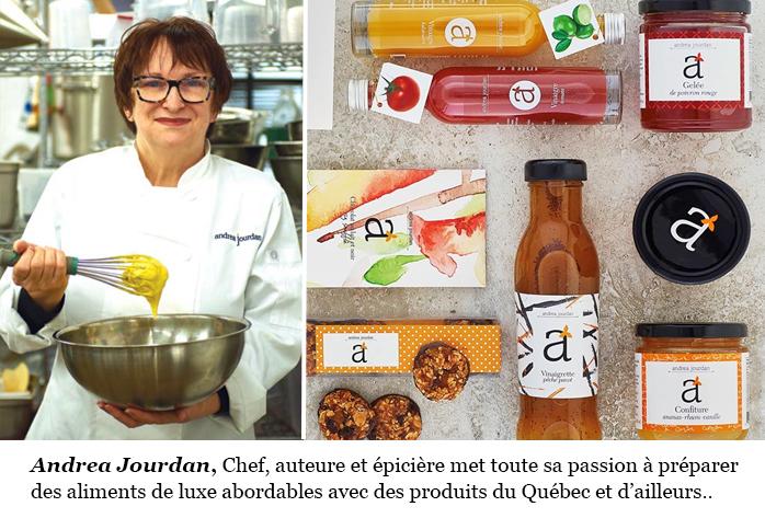 Boutique Andrea Jourdan Chef auteure épicière