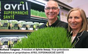 Rolland Tanguay et Sylvie Senay, Président et Vice-Présidente d'AVRIL