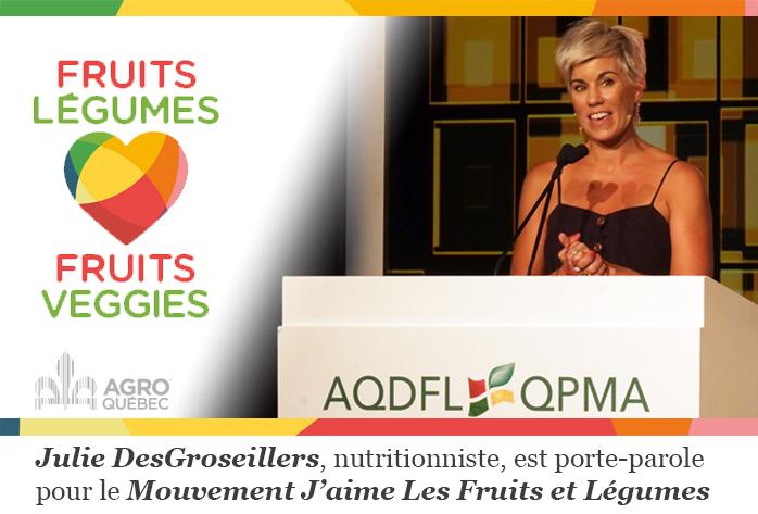 Julie DesGroseillers porte-parole JMFL