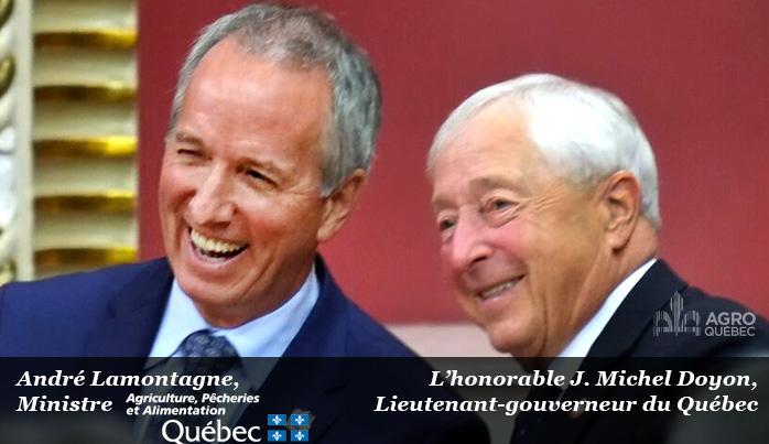 André Lamontagne, MAPAQ, J. Michel Doyon, Lieutenant-gouverneur du Québec