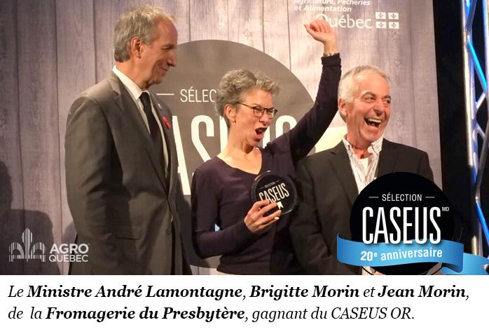 André Lamontagne, Brigitte Morin, Jean Morin, CASEUS, Fromagerie du Presbytère