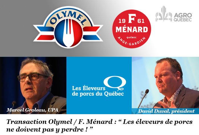Marcel Groleau, UPA, David Duval, Les Éleveurs de porcs du Québec
