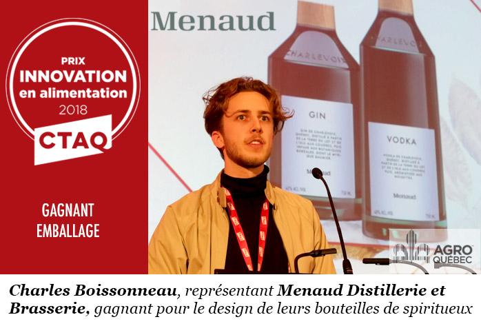 Charles Boissonneau, Menaud Distrillerie et Brasserie