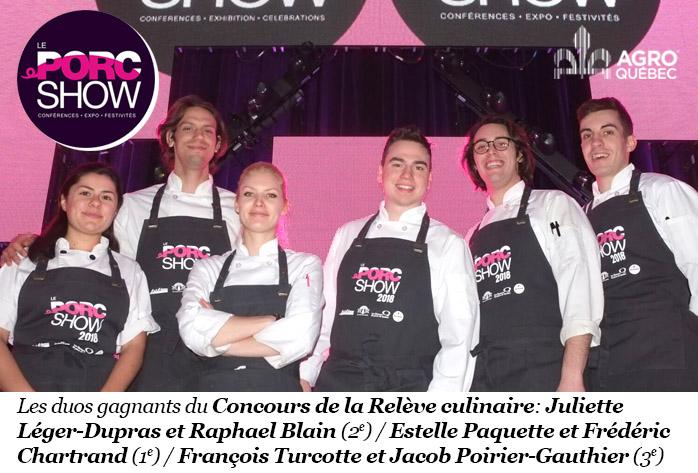 Relève culinaire Porc Show