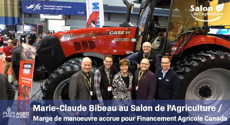 Marie-Claude Bibeau au Salon de l'agriculture