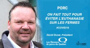David Duval, Éleveurs de Porcs du Québec